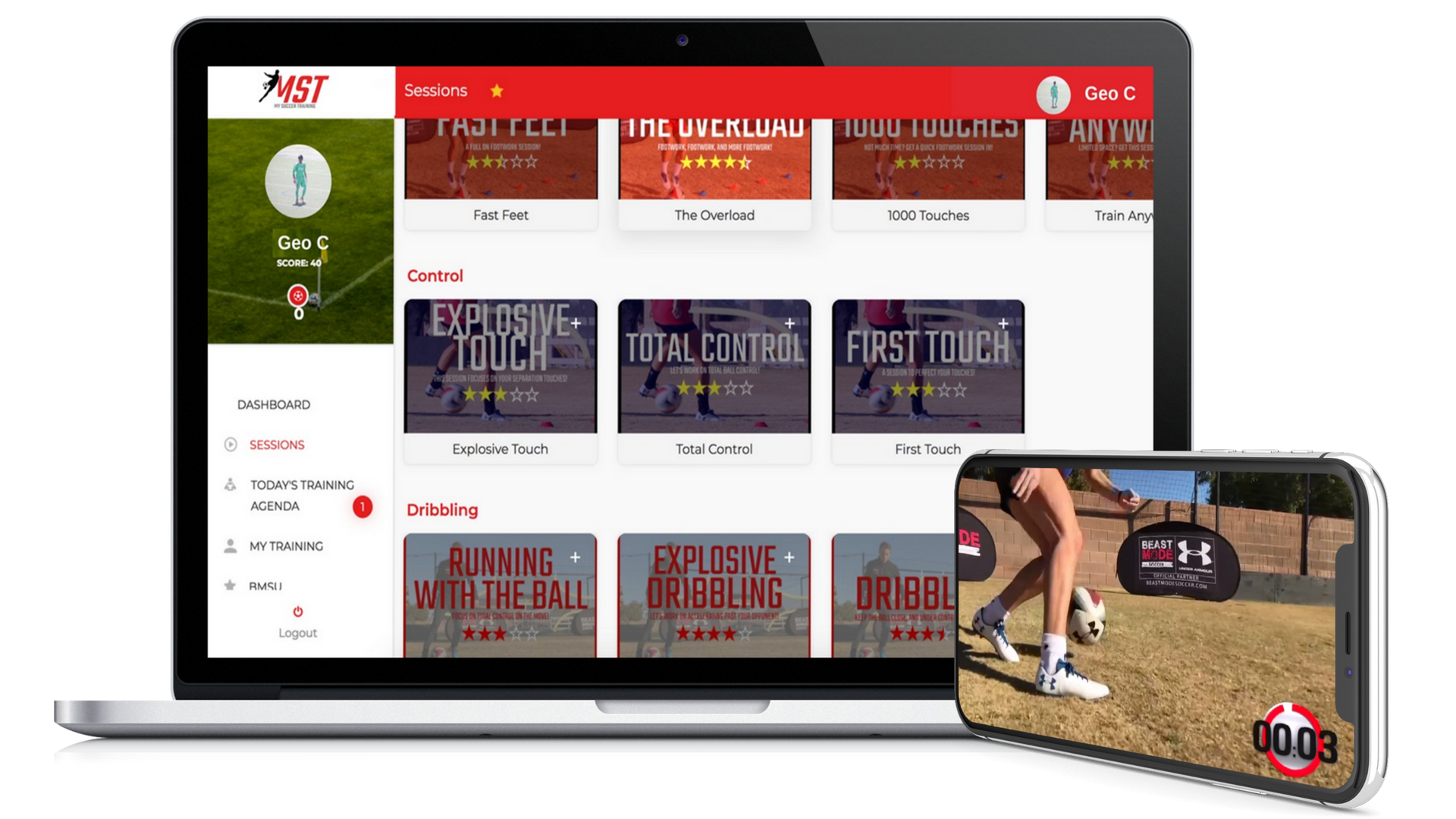 My Soccer Training App – Own Your Development